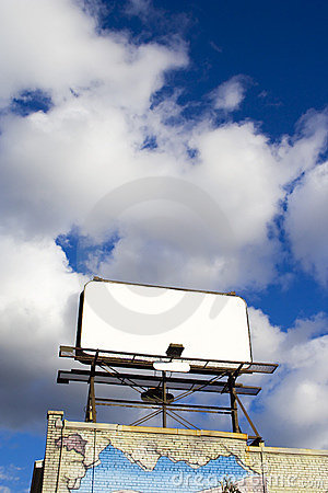 Free Place Your Text Here - Empty Ad Space In The Sky 1 Royalty Free Stock Image - 4003716
