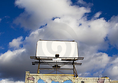 Place your text here - empty ad space in the sky 3