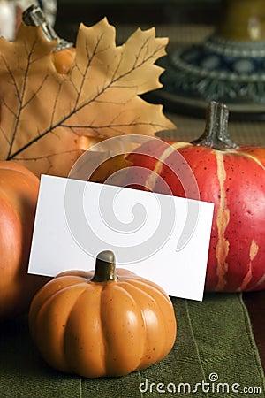 秋天placecard表