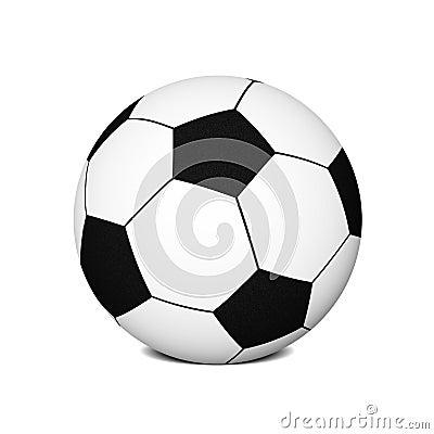 Placerad fotboll för bollfot jordning
