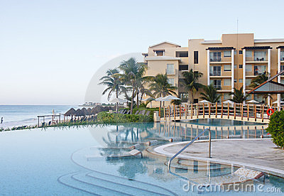 Placid Pool by Morning Beach Editorial Image