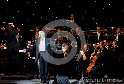 Placido Domingo performs at Bahrain Nov 29, 2012 Editorial Photography