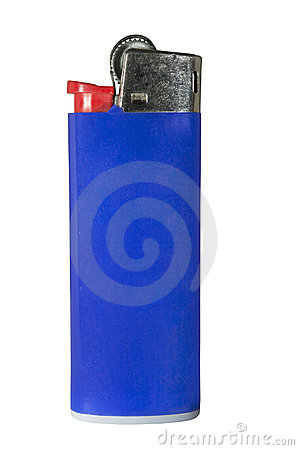 Free Plactic Lighter On White With Clipping Path Stock Image - 12381701