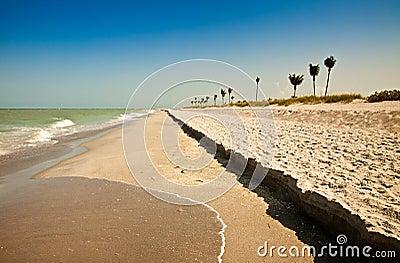 Plage de Sanibel, la Floride