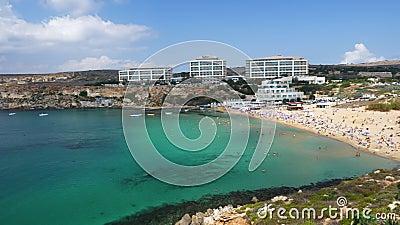 Plage Golden Bay À Malte clips vidéos