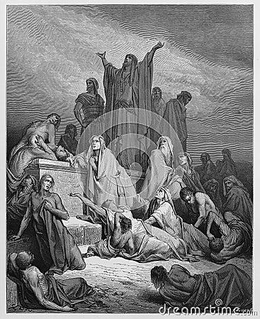 The Plague of Jerusalem Editorial Image