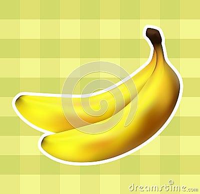 Plaid fabric with bananas
