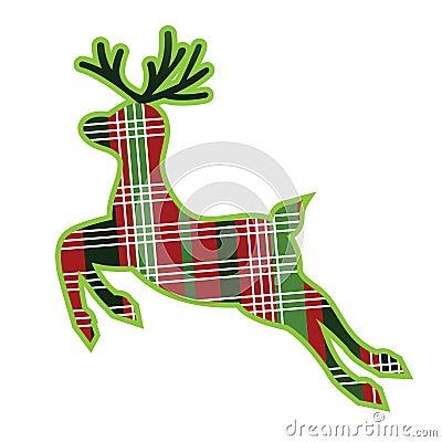 Plaid fabric reindeer