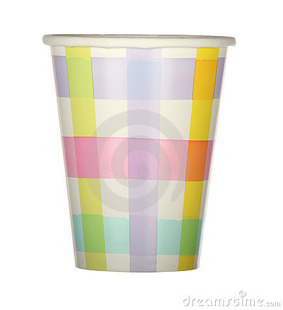 Plaid party cup
