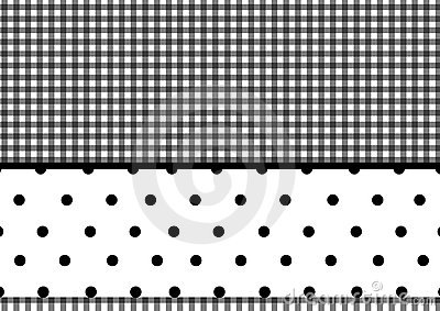 Plaid polka dots