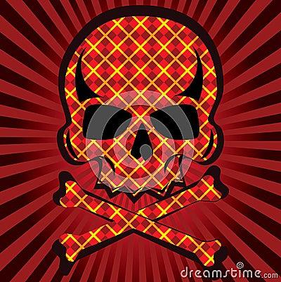 Plaid skull