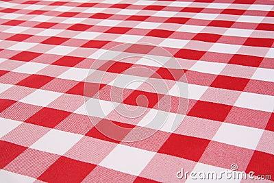 Plaid-Tischdecke