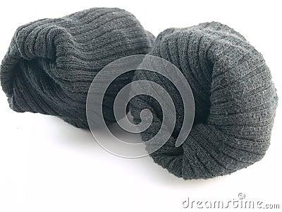 Plain Black Socks on White Background