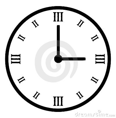 Plain black vector clock