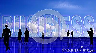 Plain Business simbolic backgr