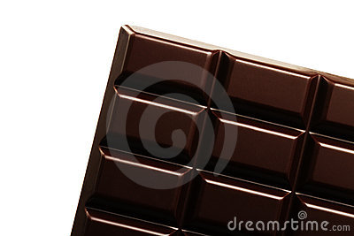 Plain chocolate bar diagonal