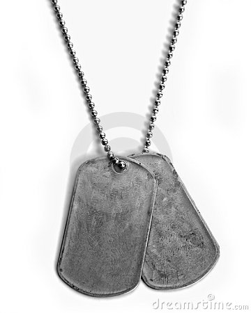 Plain dog tags