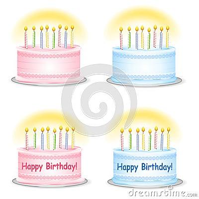 Plain and Happy Birthday Cakes