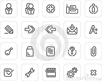 Plain icon set: Website and Internet 2