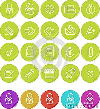 Plain o ícone das etiquetas ajustado: Web site e Internet