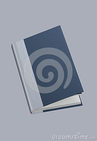 Plain open blue book, for design layout