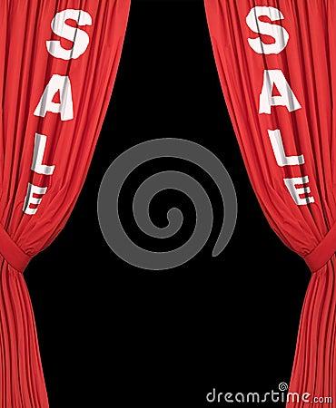 Free Plain Sale Curtains Stock Photo - 4600000