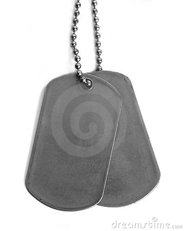 Plain straight Dog tags