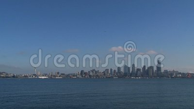 From plain to skyline Seattle, United States stock video