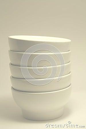 Plain white bowls