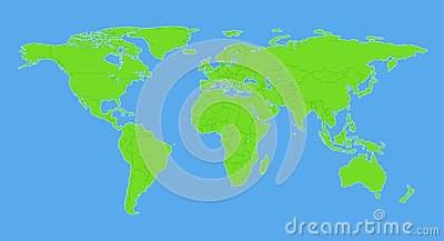 Plain World Map With C...