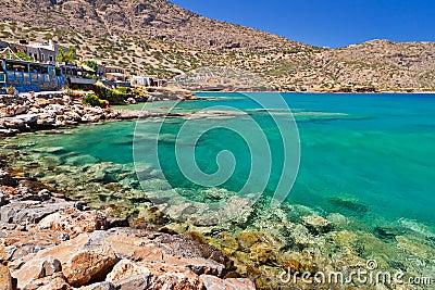 Plaka town at the sea on Crete, Greece