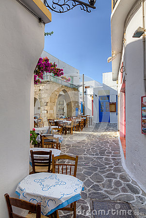 Plaka village, Milos island, Cyclades, Greece