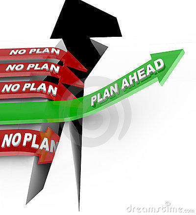 Free Plan Ahead Beats No Planning Overcoming Problem Stock Photo - 21486250