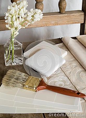 Plan blanc de décoration intérieure