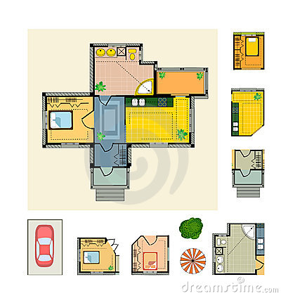 Plan country house