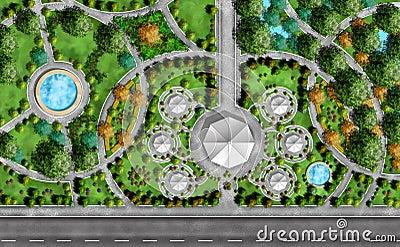 plan d 39 architecte paysagiste image stock image 13042571. Black Bedroom Furniture Sets. Home Design Ideas