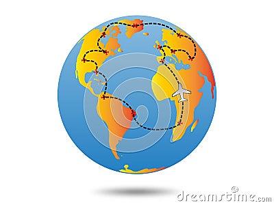 Plan de voyage de la terre
