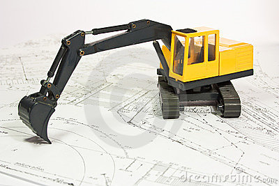 Plan and excavator