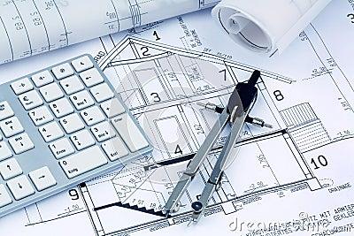 Plan für ein Haus