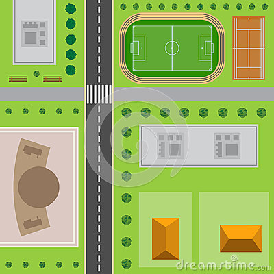 Free Plan Of City. Top View Of The City Stock Photos - 89558093