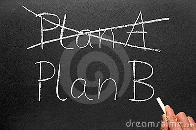 Plan A and Plan B blackboard.