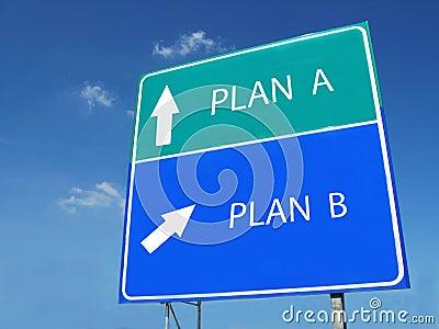 PLAN A -- PLAN B sign