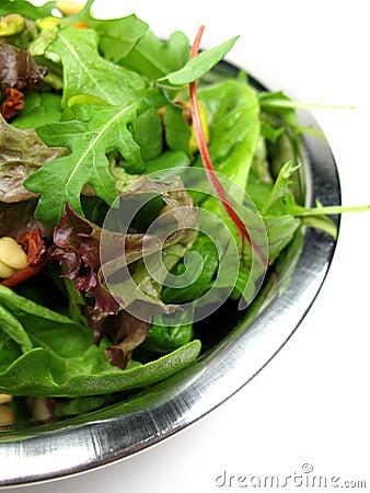 Plan rapproché de salade