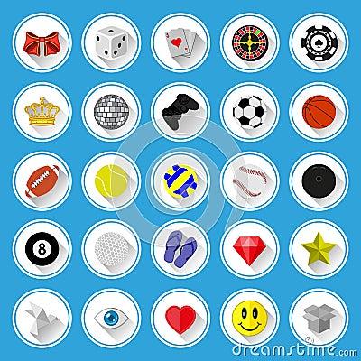 Plan symboler och pictogramsuppsättning