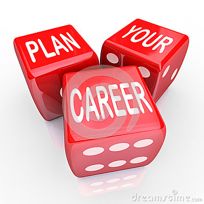 Free Plan Your Career Dice Gamble Future Opportunity Stock Photography - 35557132
