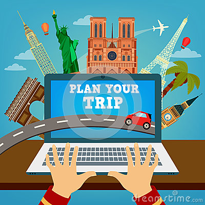 Free Plan Your Trip. Travel Banner. Vacation Planning Stock Photography - 68543502