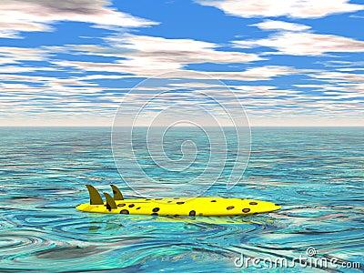 Planche de surfing à la mer calme