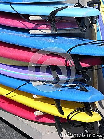 Planches de surfing