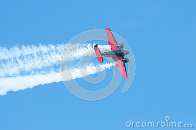 Plane in action