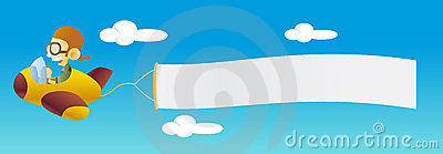 Plane With Banner Stock Images - Image: 8285934